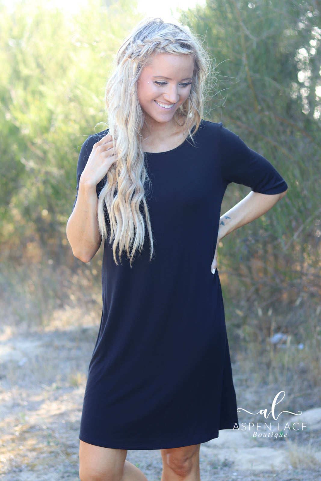 Vada Knit Dress (Black)