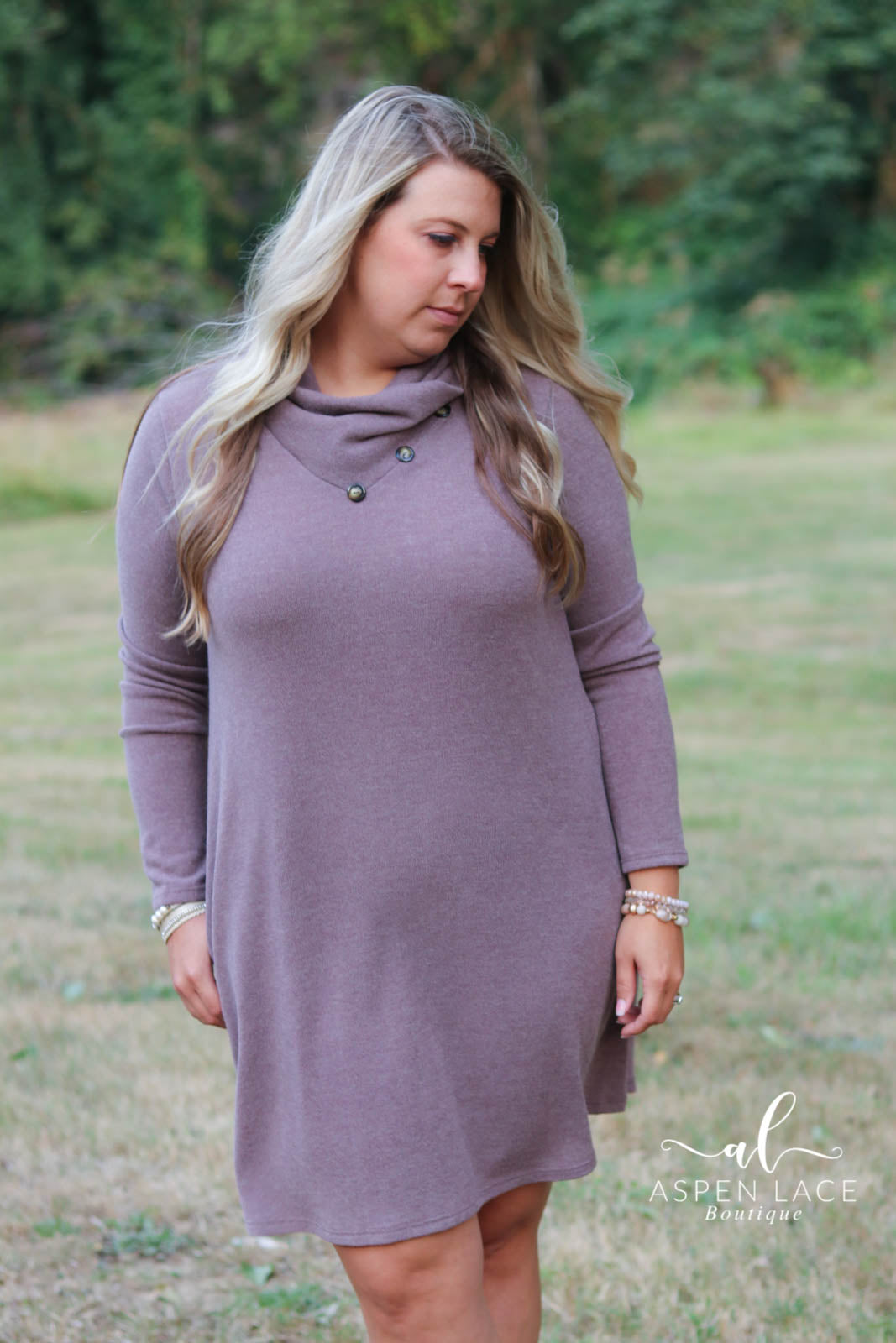 *Final Sale* Renae Sweater Dress (Mauve)