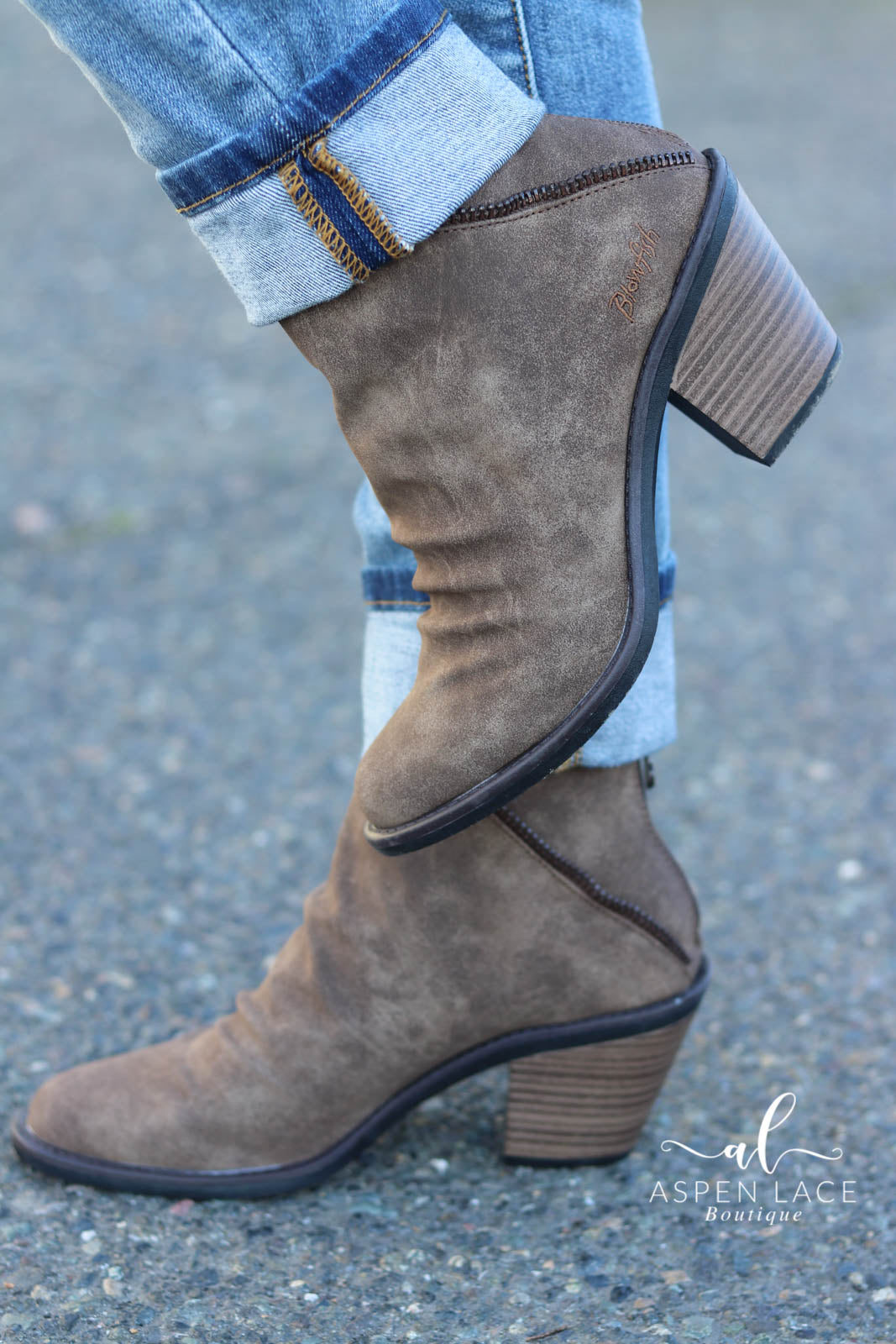 Blowfish Liberty Booties (Taupe)