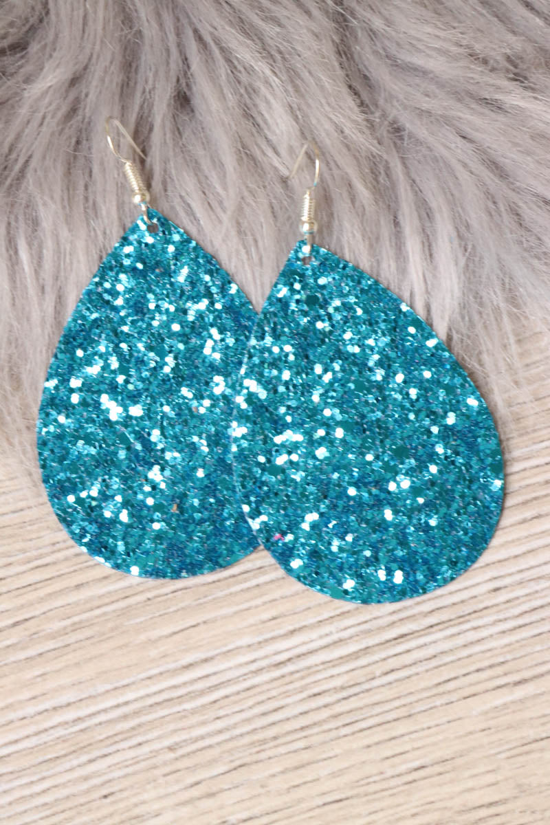 Drop Glitter Earrings- Premium (Multiple Colors)