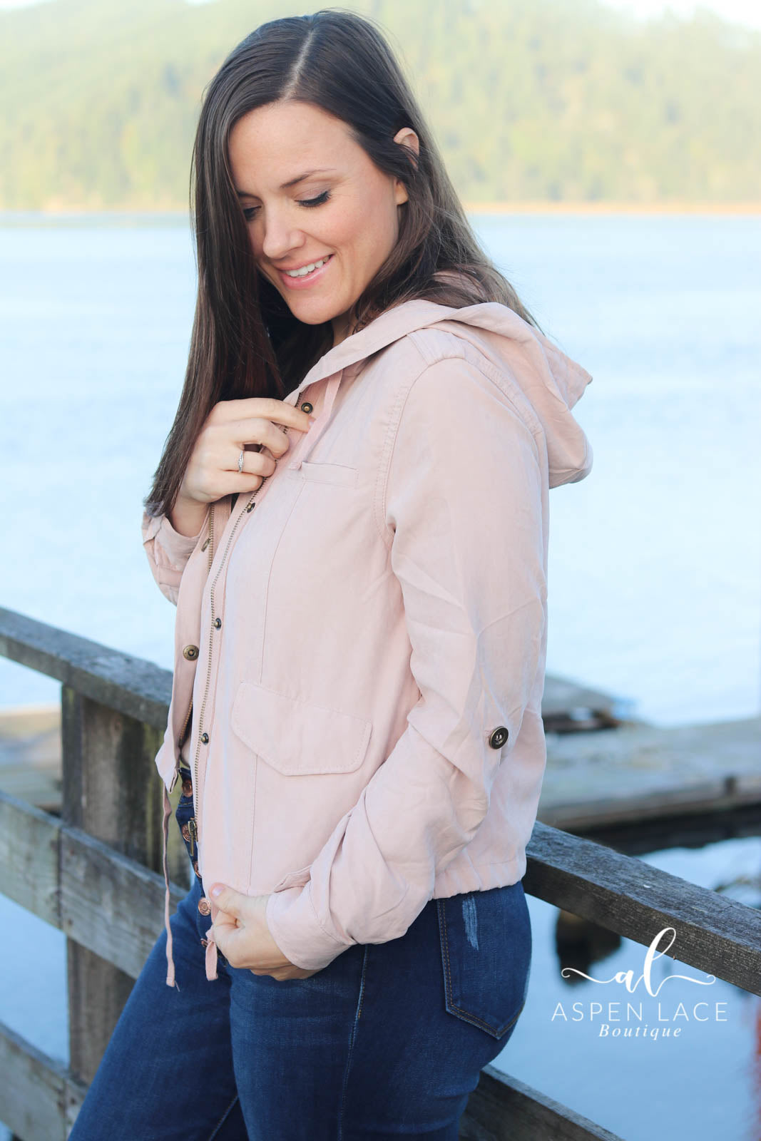 Lydia Crop Jacket (Blush)