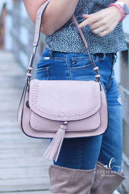 The Alice Saddle Purse (Dusty Rose)