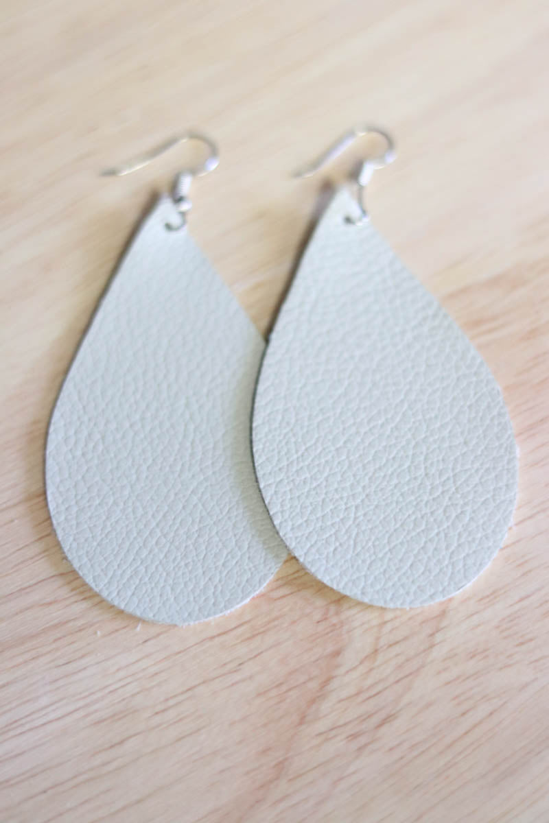 Katie Leather Drop Earrings (Multiple Colors)