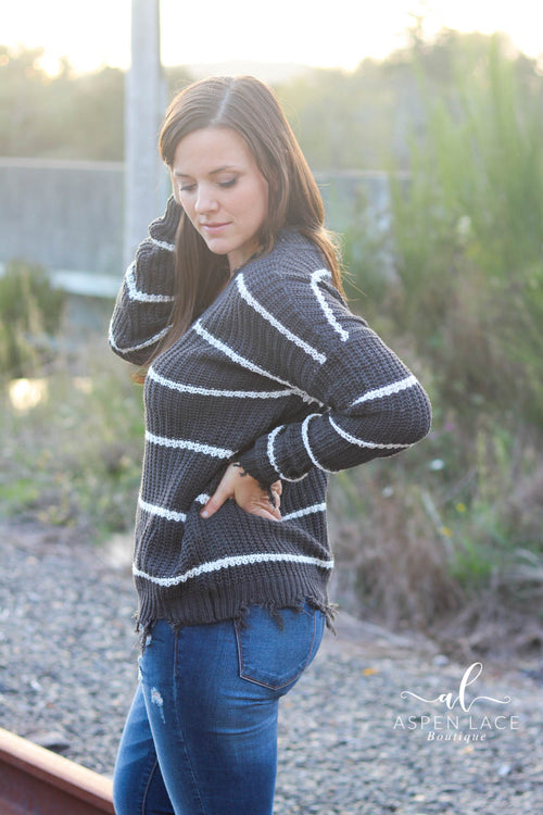 Harper Sweater (Charcoal)