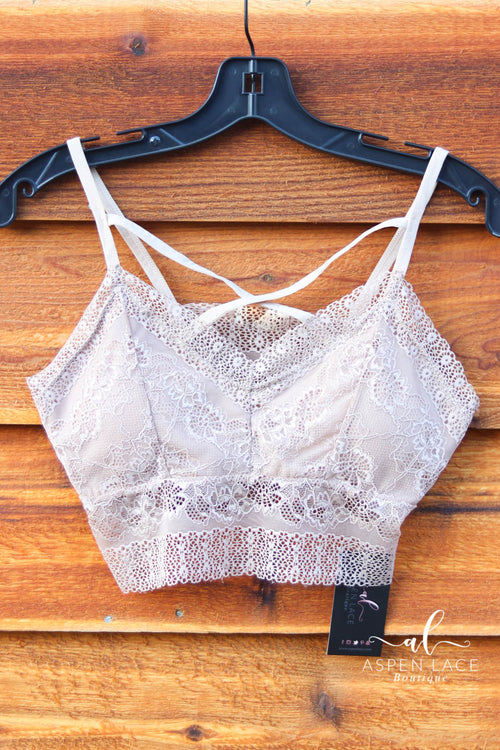 Serena Lace Bralette (Taupe)