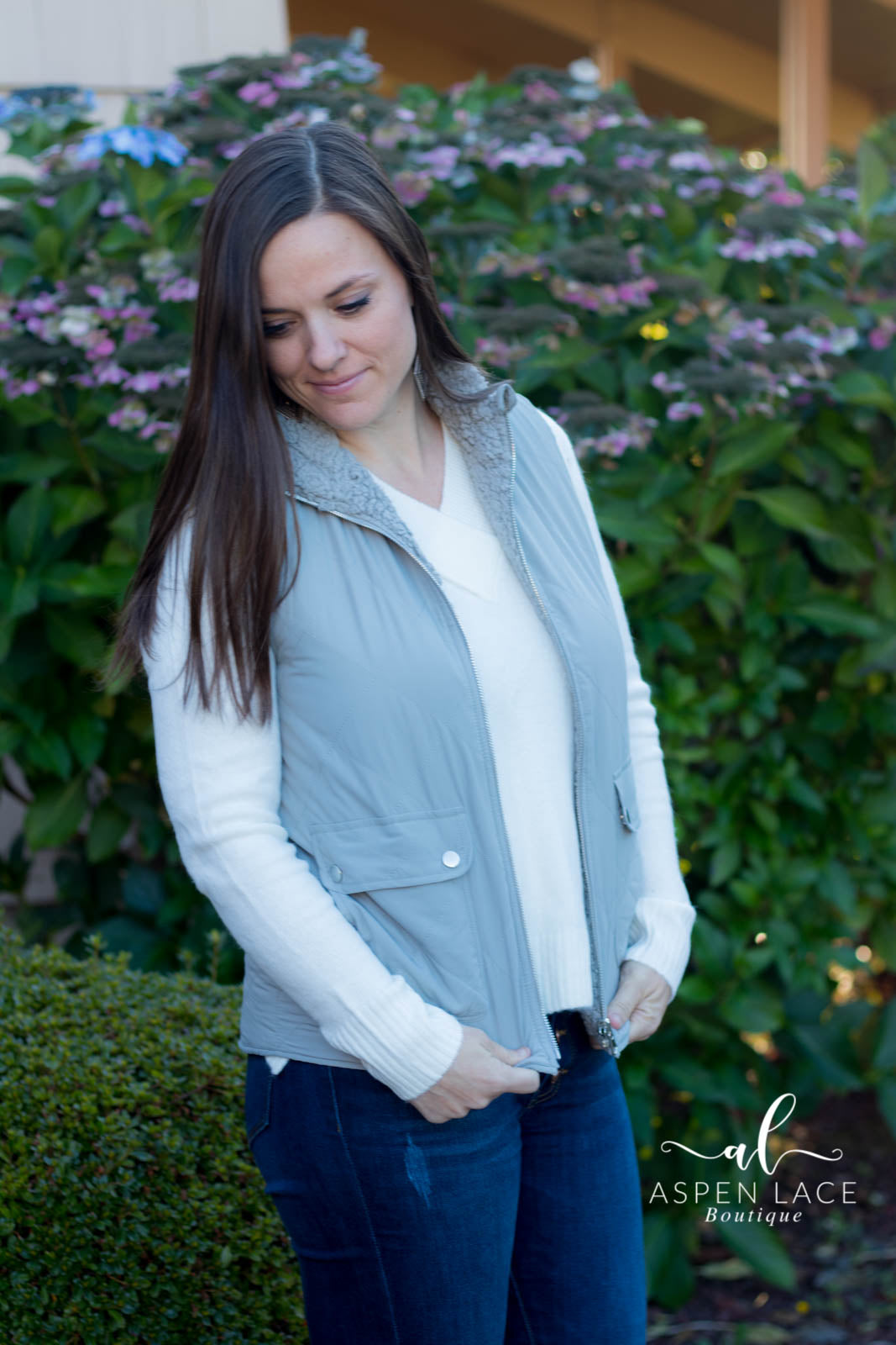 Fawna Quilted Vest (Grey)