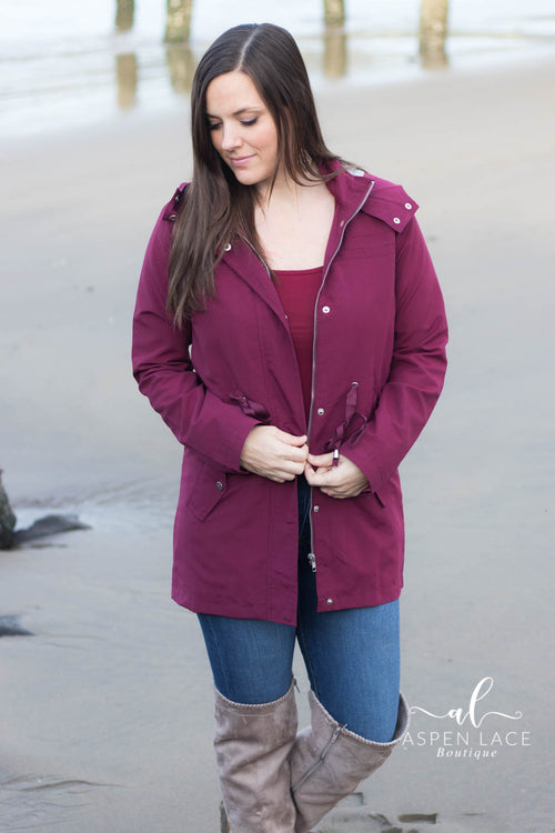 *Final Sale* Amy Jacket (Wine)