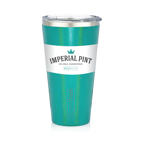Imperial Pint by BruMate® (Glitter Peacock)