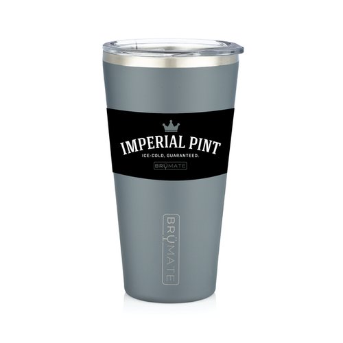 Imperial Pint by BruMate® (Matte Grey)