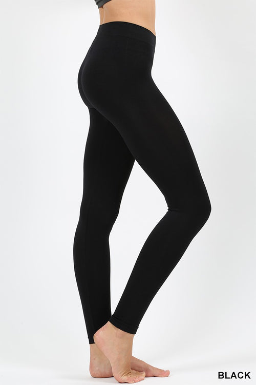 Back to Basics Leggings- Curvalicious (Black)