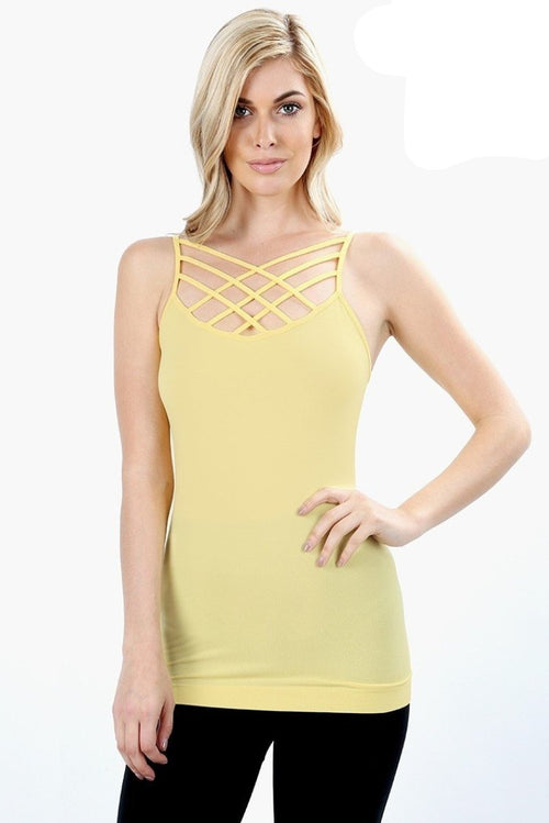 Back to Basics Strappy Cami- Curvalicious (Sunshine)