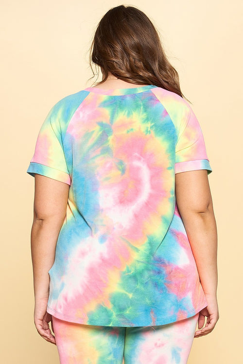 Rainbow Tie Dye Top (Multi)