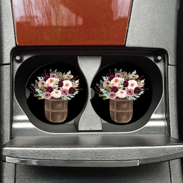 Car Coasters on the go (Flower Barrel)