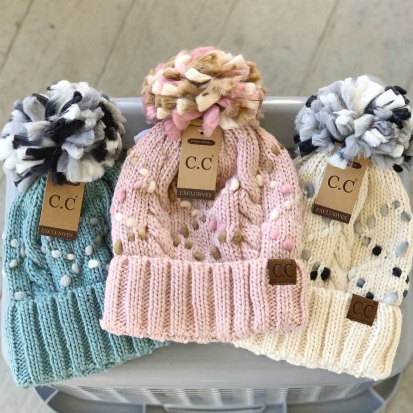 Jumbo Yarn Knit CC Beanies (Multiple Colors)