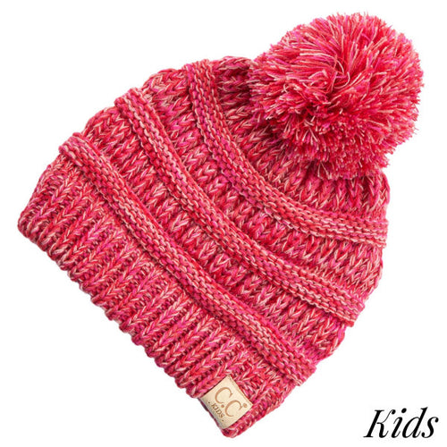 Kids Four Tone Pom CC Beanies (Multiple Colors)