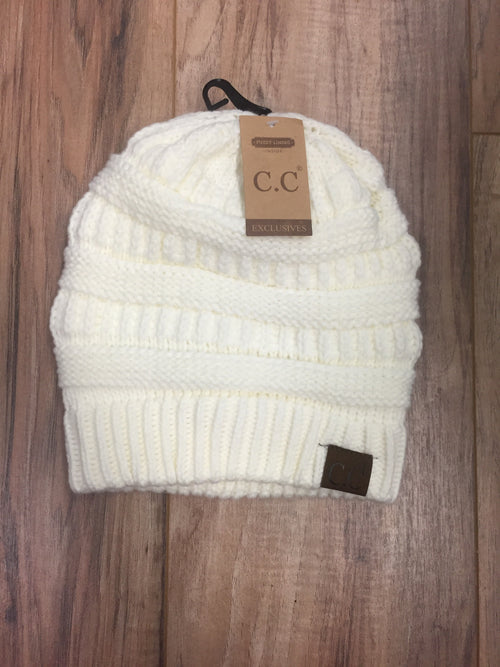 Fuzzy Lined CC Beanies (Multiple Colors)