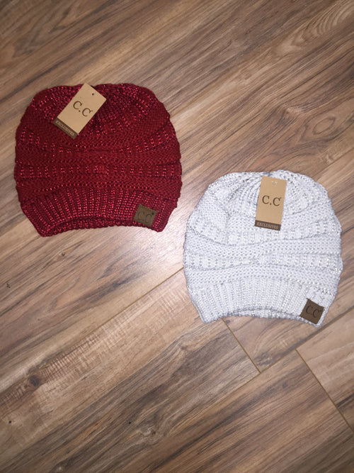 Metallic CC Beanies (Multiple Colors)