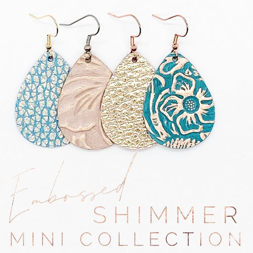 Embossed Shimmer Collection Earrings (Multiple Options)