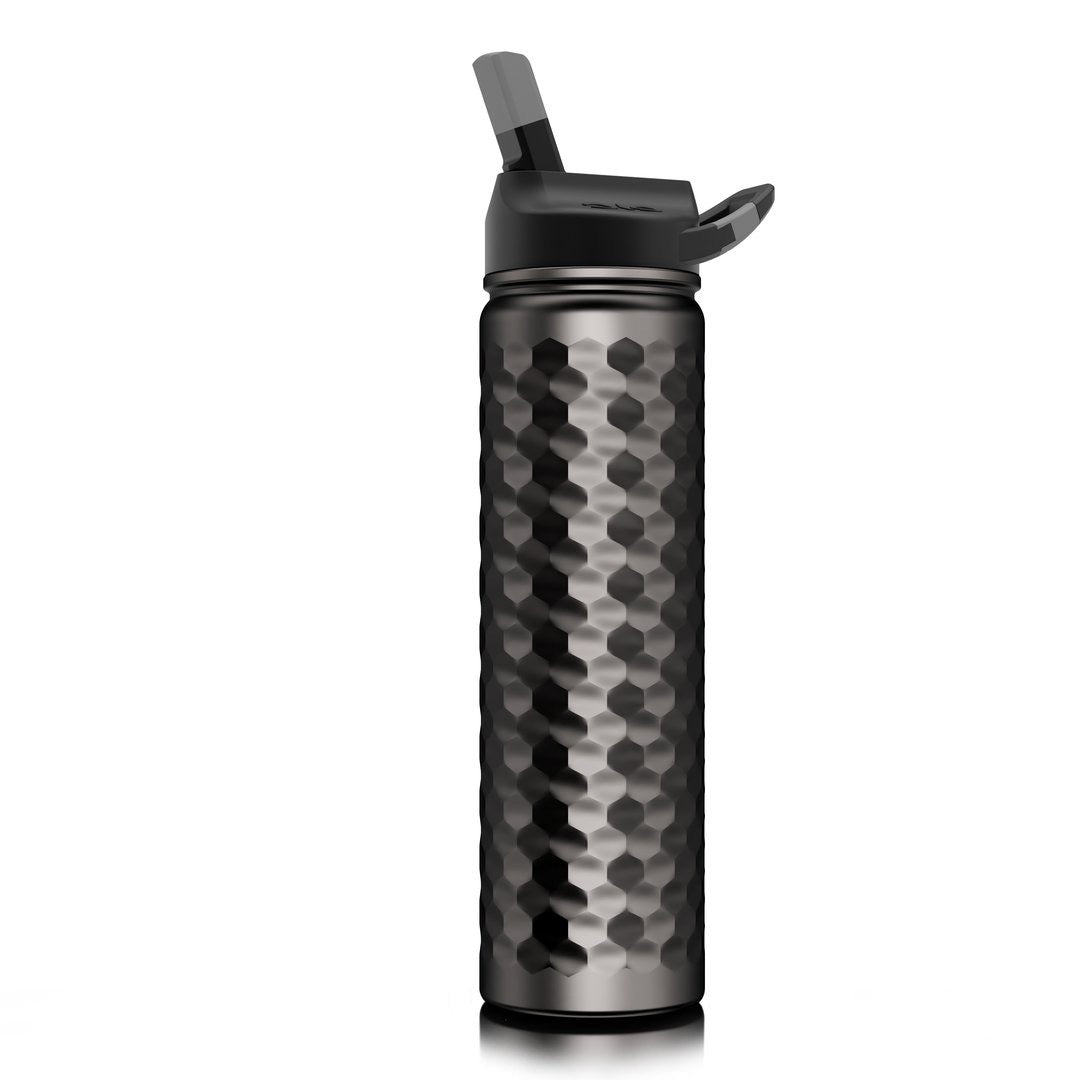 27oz Stainless Steel Water Bottle (Hammered Gunmetal)