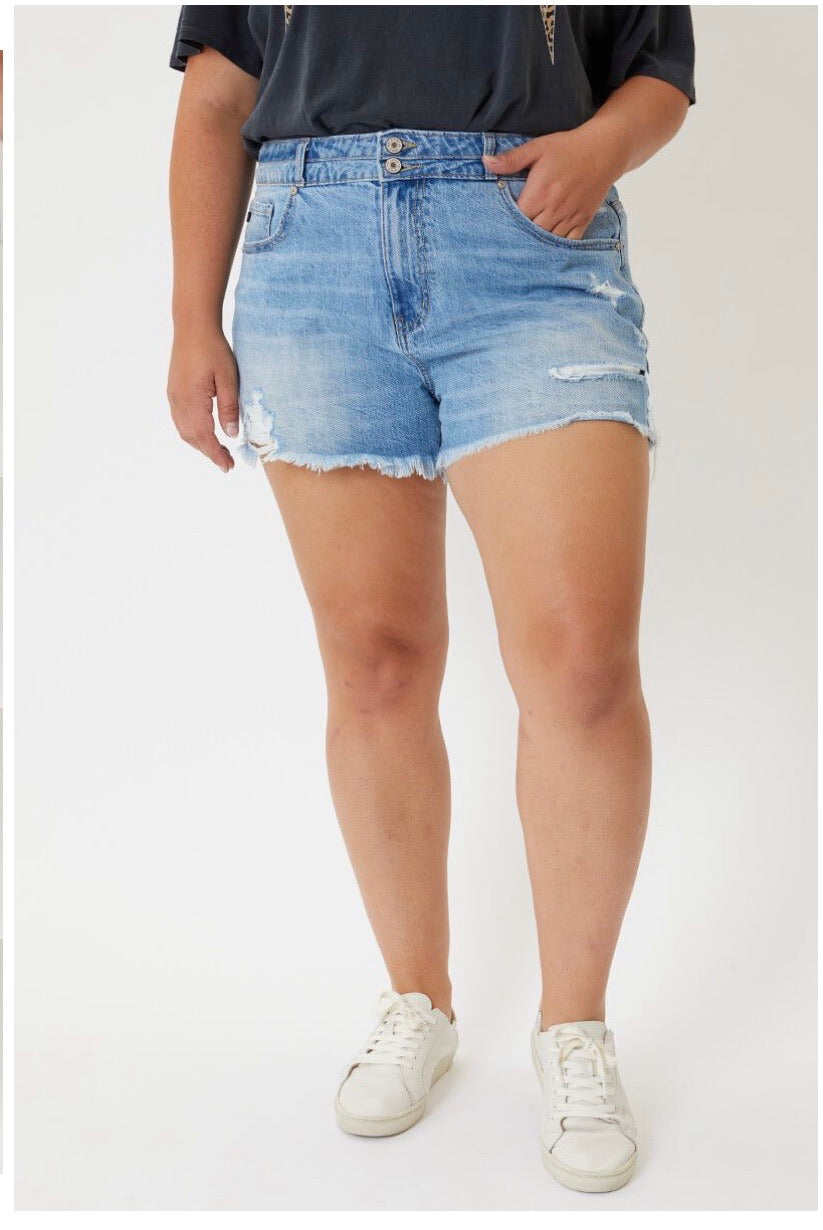 Hazel KanCan Shorts (Light Wash)