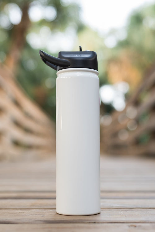 27oz Stainless Steel Water Bottle (Glossy Ice White)