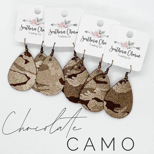 Chocolate Camo Shimmer Earrings