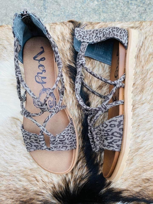 Destiny Sandals (Grey Leopard)