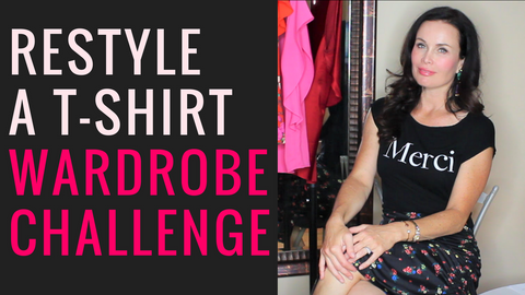 Restyle a T-shirt - Shop Your Closet Challenge