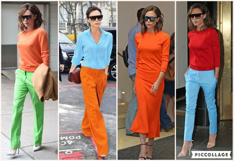 Victoria Beckham - Bold Color Combinations