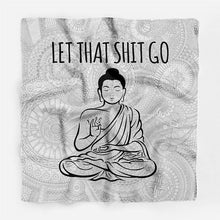 "Buddha ""Let Go"" Mantra Scarf - Working Look"