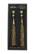 Chain Drop Tassel Earrings in Gold - Working Look