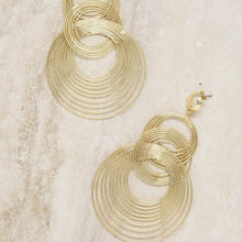 Multi-Hoop Earrings in Gold - Working Look