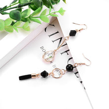 Asymmetrical Retro Glam Earrings - Working Look