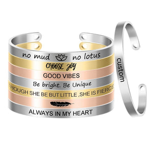 "Positivity Bangle - ""Choose Joy"" - Working Look"