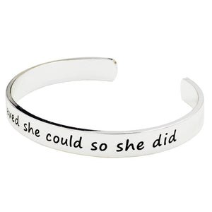 "Positivity Bangle - ""She Believed"" - Working Look"