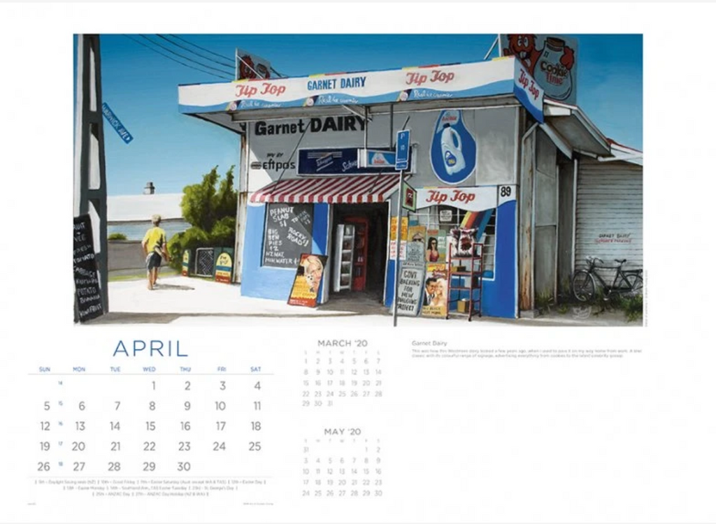 Art of Graham Young 2020 Calendar - by Easy2C (Watch Video)