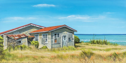 Abandoned at Cape Egmont - grahamyoungartist.com - Original Artwork and Prints by New Zealand Artist Graham Young