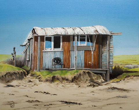 Ahipara Beach Hut Prints - grahamyoungartist.com - Original Artwork and Prints by New Zealand Artist Graham Young