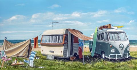 Beach Base Camp Prints - grahamyoungartist.com - Original Artwork and Prints by New Zealand Artist Graham Young