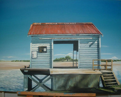 Big Omaha Wharf Prints - grahamyoungartist.com - Original Artwork and Prints by New Zealand Artist Graham Young
