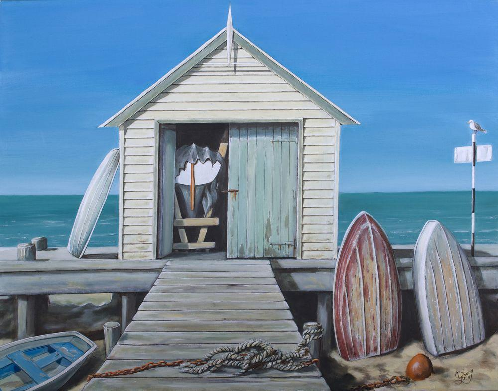 Boatshed On the Quay Prints - grahamyoungartist.com - Original Artwork and Prints by New Zealand Artist Graham Young