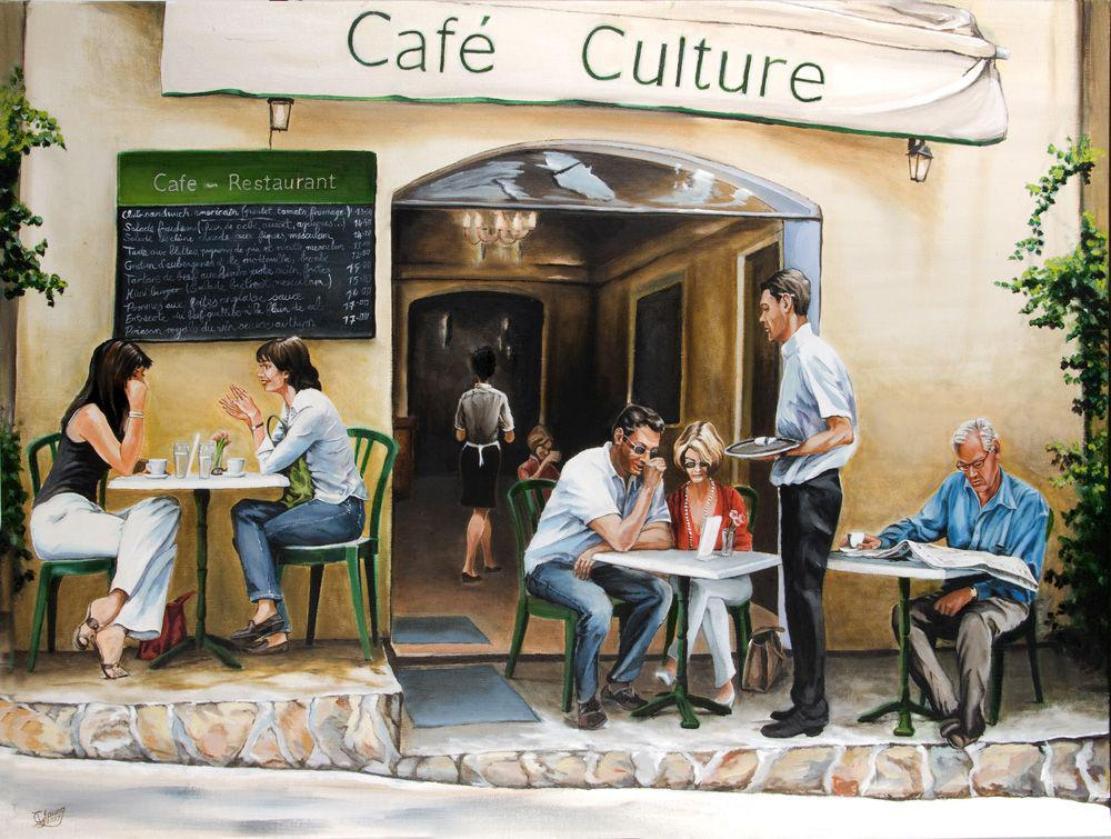 Cafe Culture Prints - grahamyoungartist.com - Original Artwork and Prints by New Zealand Artist Graham Young