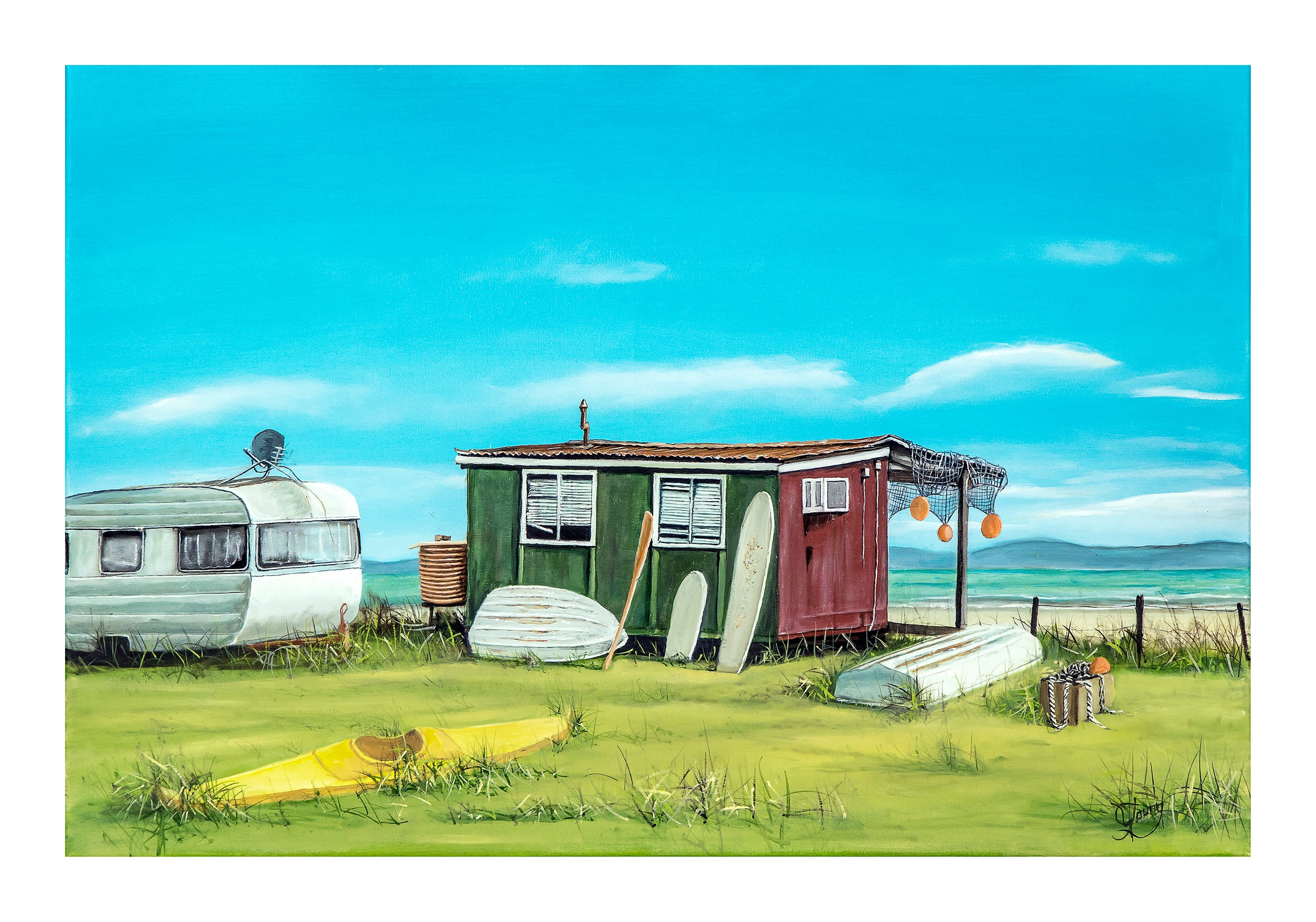 Firth Retreat - grahamyoungartist.com - Original Artwork and Prints by New Zealand Artist Graham Young