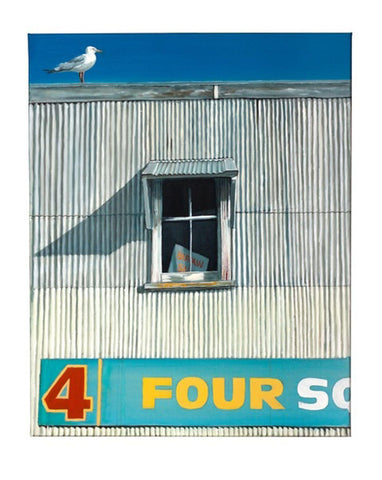 Four Square Window Prints - grahamyoungartist.com - Original Artwork and Prints by New Zealand Artist Graham Young