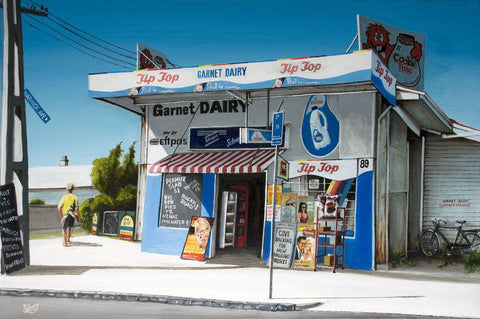 Garnet Dairy Prints - grahamyoungartist.com - Original Artwork and Prints by New Zealand Artist Graham Young