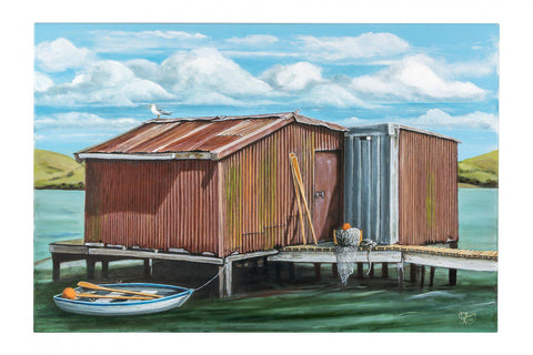 Hooper's Inlet Prints - grahamyoungartist.com - Original Artwork and Prints by New Zealand Artist Graham Young