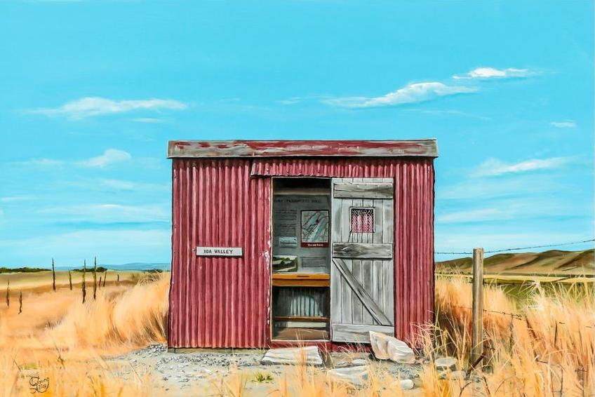 Ida Valley Gangers Shed - grahamyoungartist.com - Original Artwork and Prints by New Zealand Artist Graham Young