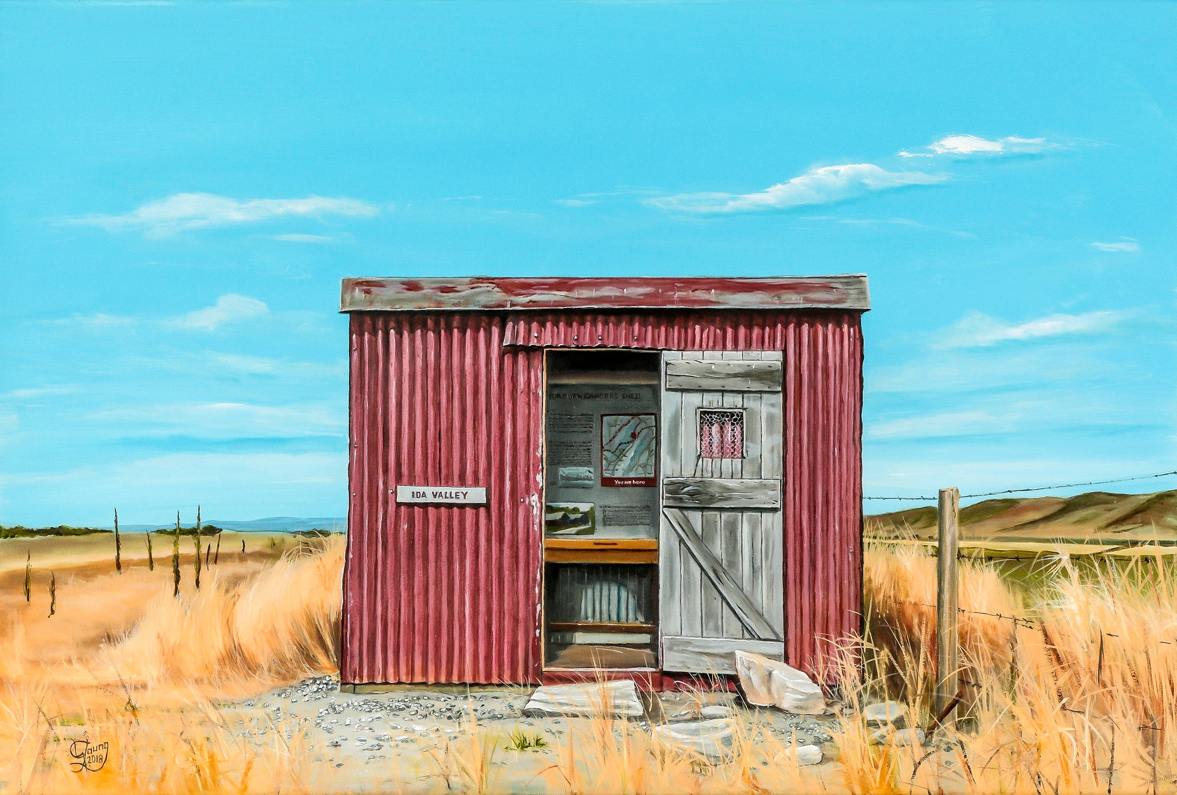 Ida Valley Gangers Shed Prints - grahamyoungartist.com - Original Artwork and Prints by New Zealand Artist Graham Young