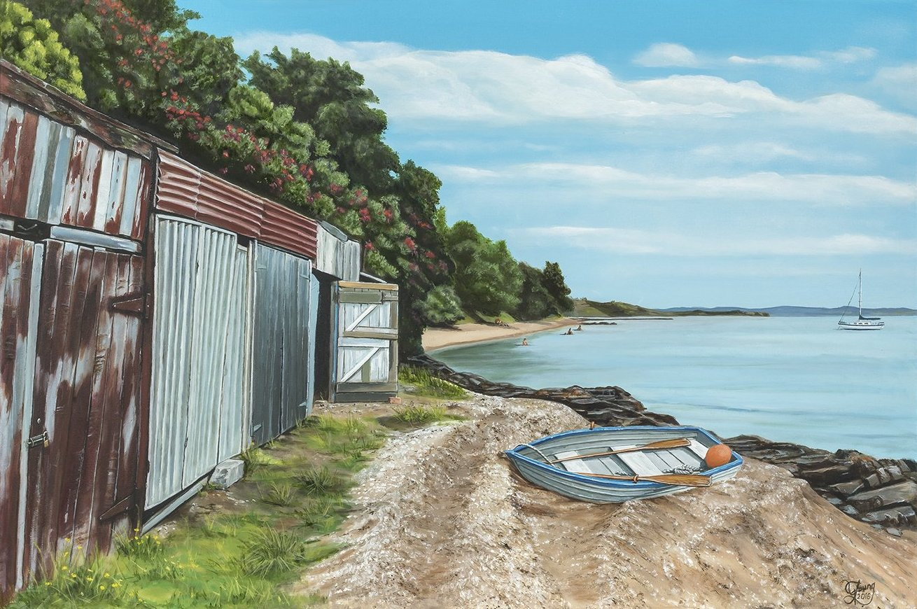 Kawakawa Bay Prints - grahamyoungartist.com - Original Artwork and Prints by New Zealand Artist Graham Young