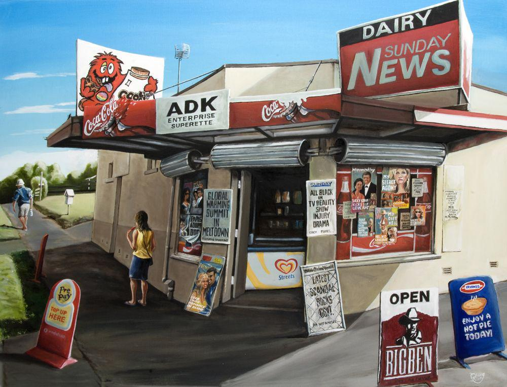 Kumla's Dairy Prints - grahamyoungartist.com - Original Artwork and Prints by New Zealand Artist Graham Young